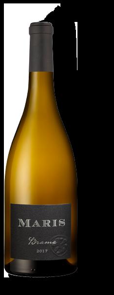 Bottle of Brama white wine