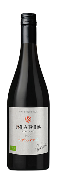 Red Wine Merlot Syrah Maris Pays D'Oc 2020