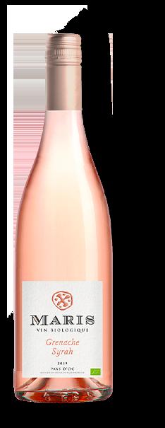 Bouteille de vin rosé Pays d'Oc rosé