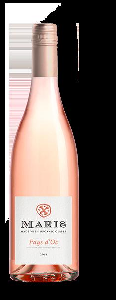 Bottle of Pays d'Oc rosé wine