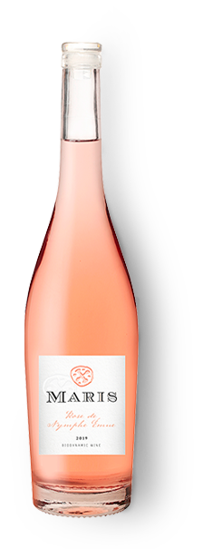 Bottle of Rose de Nymphe Émue rosé wine